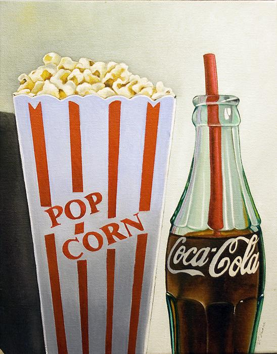 Eat Popcorn And Drink Coca Cola